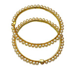 <b>Product: </b> Freshwater Hyderabad natural Pearl Bangle<br>>br>