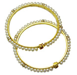 <b>Product: </b>Freshwater Hyderabad natural Pearl Bangle<br><br>