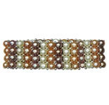 <b>Product: </b> Freshwater Hyderabad natural Pearls Flexible Bracelet<br><br>