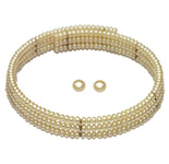 <b>Product: </b> Freshwater Hyderabad natural pearls flexible  set<br><br>