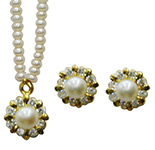 <b>Product: </b> Freshwater Hyderabad natural Pearl Set <br><br>