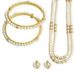<b>Product: </b> Freshwater Hyderabad natural Pearl Set<br><br>