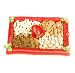 Six Assorted dry fruits packed in a fancy gift box. Weighing 1Kg, is the ultimate gift for any festive occasion.