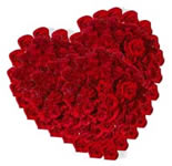 Make the one you love realize that because of his/her presence in your life, this world is a living paradise, by sending this arrangement of 50 Red Roses in Heart Shape with a bow.