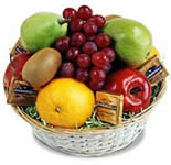 <br>Send an arrangement of 2 Kg Fresh Fruits (Pineapple, Apple, Grapes, Sweet Lime)in a cane basket. <br><br>If particular fruits is not available then  we will replace it with available fruits.