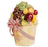 Send an arrangement of 6 Kgs Fresh Fruits(Pineapple, Apple, Grapes,Sweet Lime,Pears) in a Huge cane basket. <br><br>If particular fruits is not available then  we will replace it with available fruits.