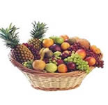 Arrangement of Fresh Fruits in a Huge cane basket. 6 Kgs. of Fresh Seasonal fruits.<br>Fruit selection will depend on Seasonal Availibility.